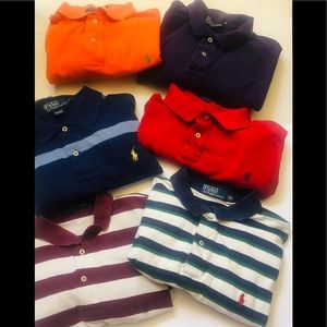 Lot of 5 Polo Ralph Lauren Men's Polo Shirts XL